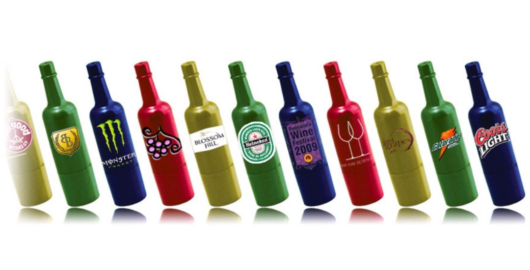 bottle-shaped USB drive for event promotion UC09