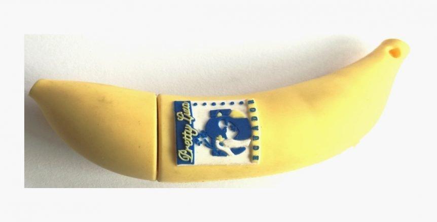 custom PVC molded banana USB drive UP03