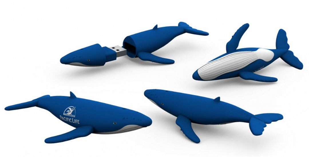 custom whale shark USB stick free 3D design UP14